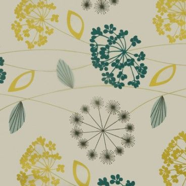Allium Turquoise oilcloth tablecloth
