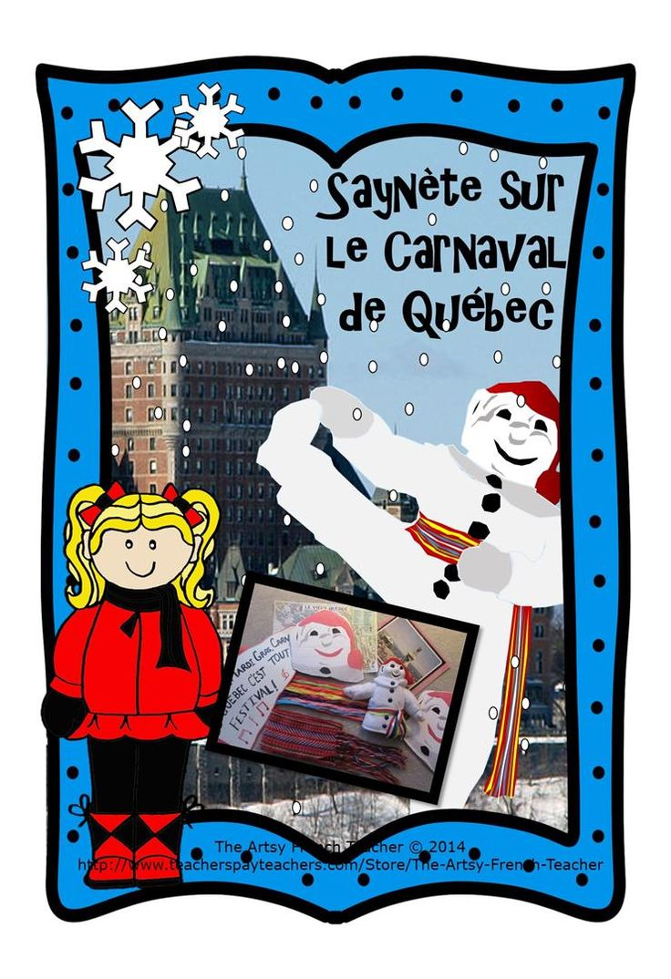 This 8 page skit about the Quebec Winter Carnival is part of a 32 page resource, https://www.teacherspayteachers.com/Product/La-saynete-sur-le-Carnaval-de-Quebec-French-skit-of-Bonhomme-Quebec-Carnival-1120429 including Learning Goals, Rubrics, Letter to parents, Suggestions for backdrops, costumes, background music, 35 Word Wall Words.  IN FRENCH.