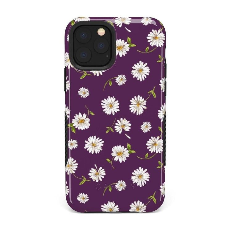 Casely iphone 11 pro daisy daydream plum purple floral