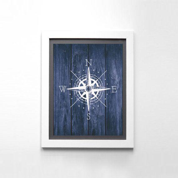 Impresión del arte Pose brújula cartel náutico descarga
