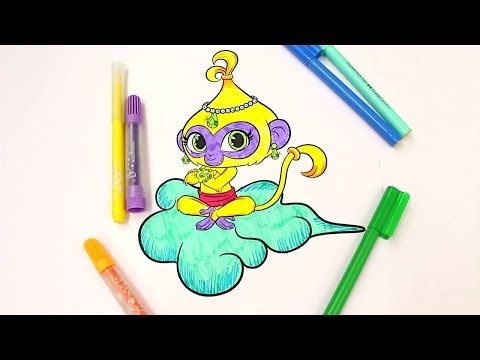 SHIMMER and SHINE Coloring Book Pages Nickelodeon Videos Brilliant Coloring Fun For Kids - YouTube