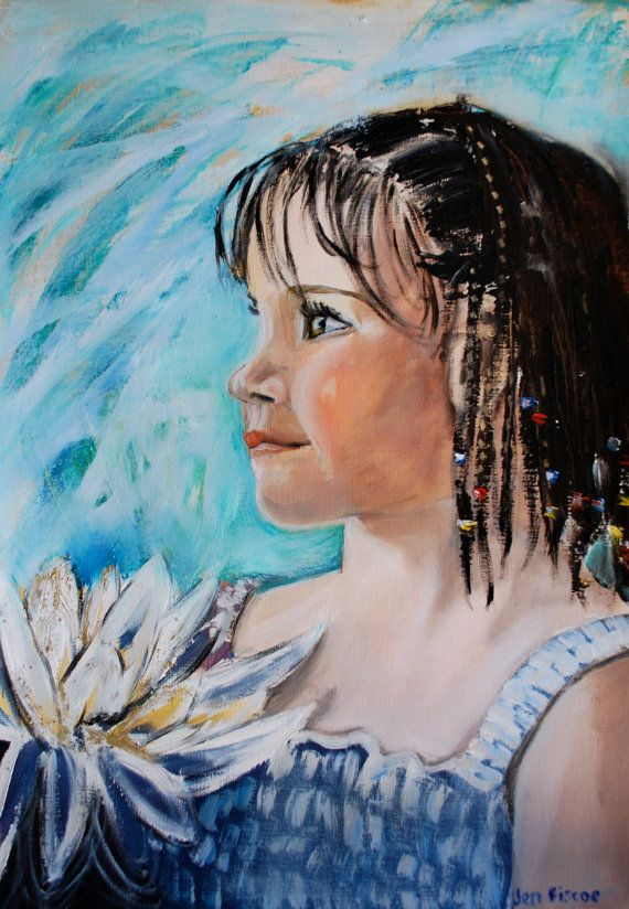 A2 personalised portrait painted in oils on by FacesPlacesArt, $100.00