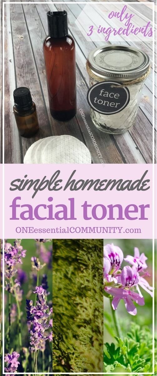 reduces redness, fights wrinkles & age spots, shrinks pores, & banishes acne. Great for all skin types. DIY facial toner with essential oils