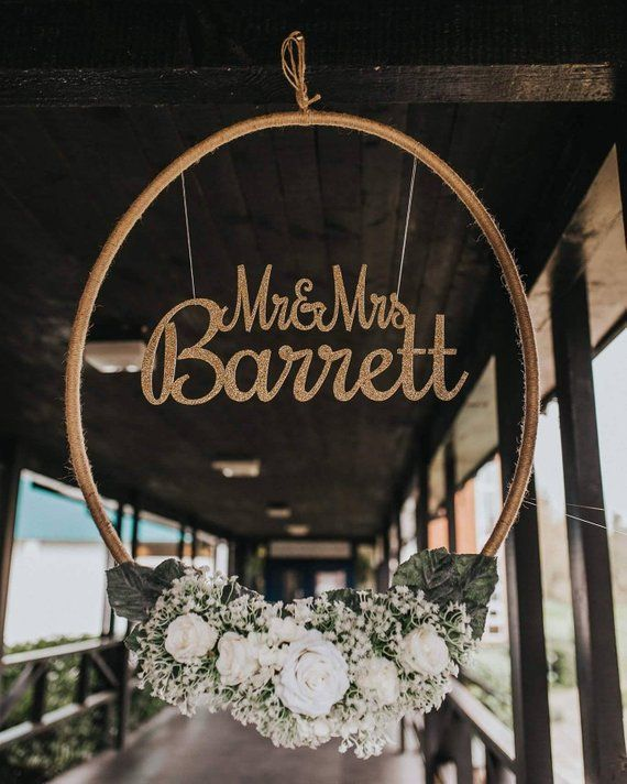 Celebrate Your New Married Name With A Gorgeous Giant Floral Decor