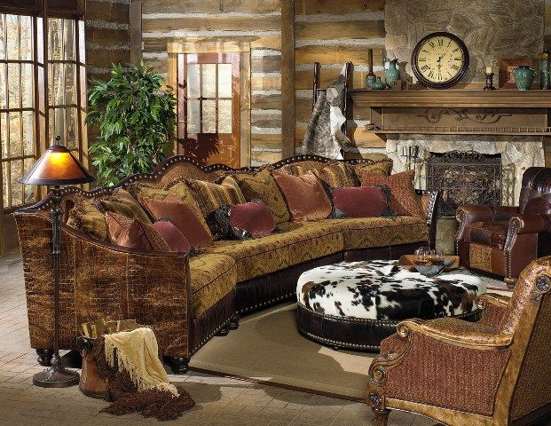 rustic curved sectional sofa - Google Search