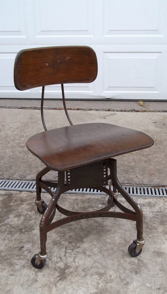 Vintage Toledo Industrial Drafting Chairs On By Thecityloft