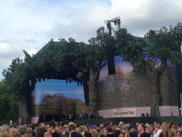 Main Stage from the Hospitality Garden