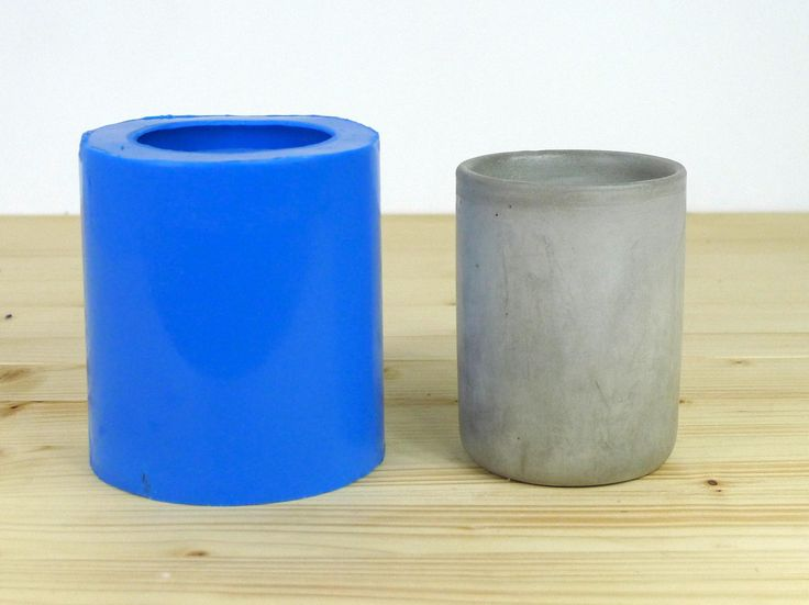 Concrete cup mold Round tall cup concrete mould Silicone