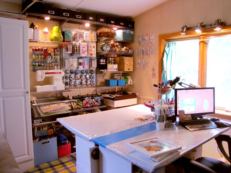 Best Sewing And Craft Rooms Images On Pinterest Craft Rooms - Craft room home studio setup
