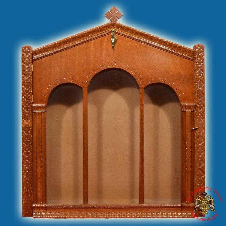 Eikonostasi Icon Wooden Case Flat A' with Columns