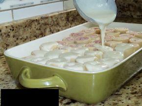 Rondelli de presunto e mussarela ao molho branco | Receitas Gshow