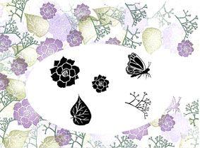 Begonia Majestix Peg Stamp Set