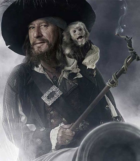 Hector Barbossa-one of the best Disney characters! Geoffery Rush is just BRILLIANT.