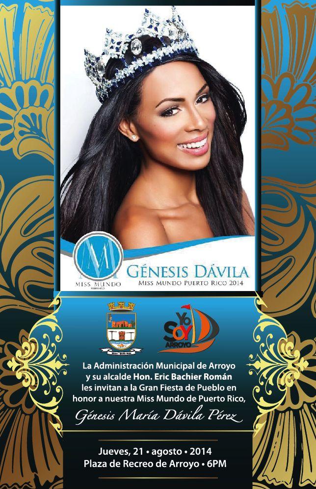 Diseños que Provocan... by Carmen R. Lebrón Anaya: Bienvenida Génesis Dávila, Miss Mundo Puerto Rico ...