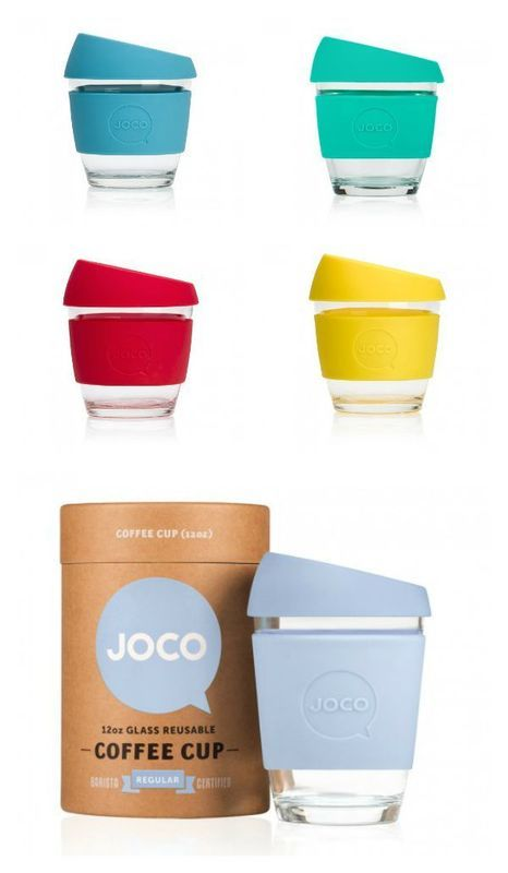 JOCO cup reusable glass coffee cups are beautiful, eco-friendly and a great way to drink java to go
