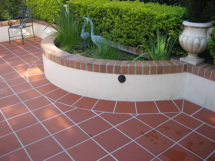 terracotta tile terrace tiles Pinterest