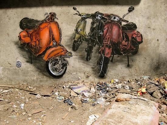 © C215 | New Delhi, India (2008) http://expressindia.indianexpress.com/latest-news/painting-is-on-the-wall/379457/