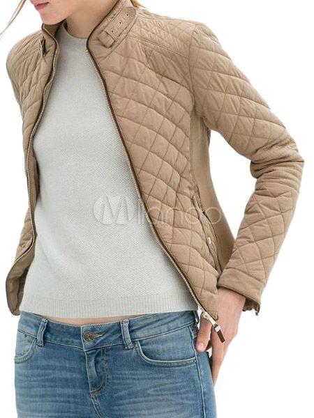 スタンド カラーのジャケットのポケット付き-No.1