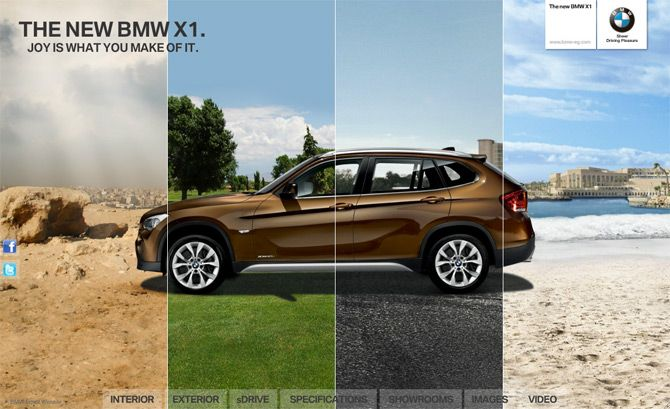 BMW X1 MICROSITE / Art Direction, Web Design