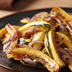 Roasted Delicata Squash & Onions  - EatingWell.com Using Trader Joes Stoneground mustard is the BEST