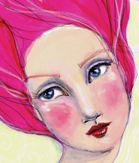 The Secret to Whimsical Mixed-Media Portraits - Cloth Paper Scissors Today - Blogs - Cloth Paper Scissors