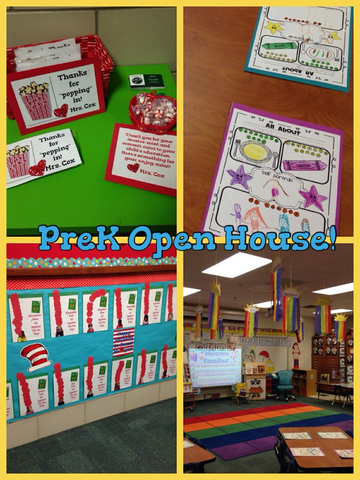 15 Best Prek Open House Images On Pinterest Classroom Ideas
