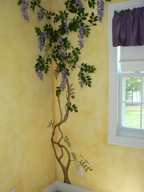 wisteria wall paintings - Google Search