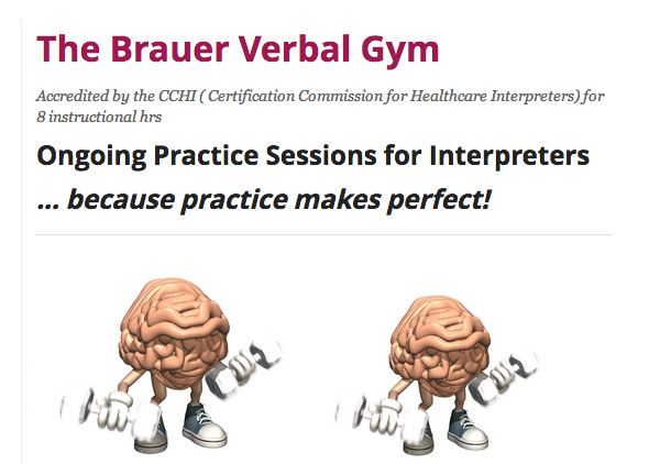 The Brauer Verbal Gym - accredited by the CCHI for 8 instructional hours