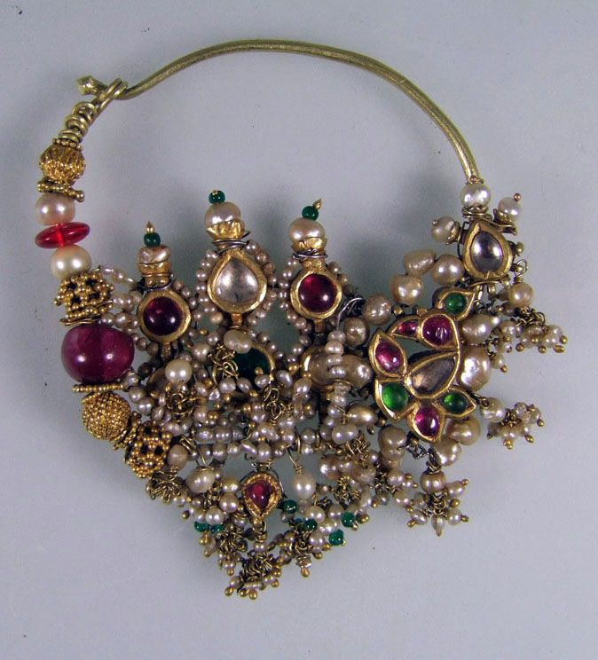 "India | Nose ring ""nath"" from southern Rajasthan 
