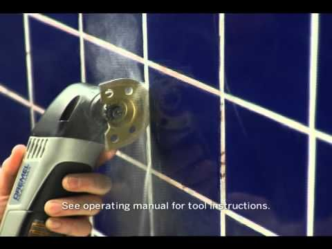 Removing grout with the Dremel Multi-Max is a great way to freshen up any kitchen or bathroom.