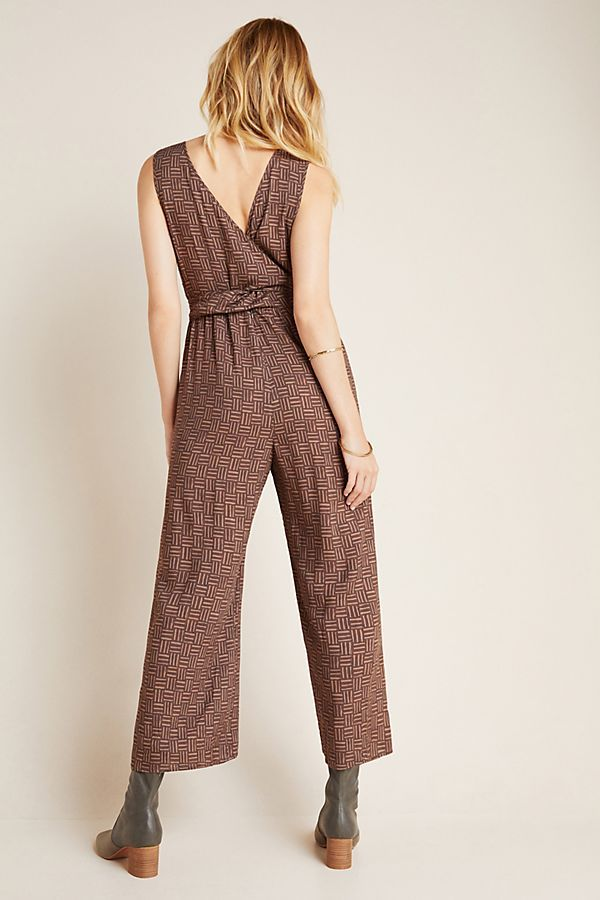 Radley Abstract Wide-Leg Jumpsuit by Hutch in Brown Size: L, Women's Jumpsuits at Anthropologie 1