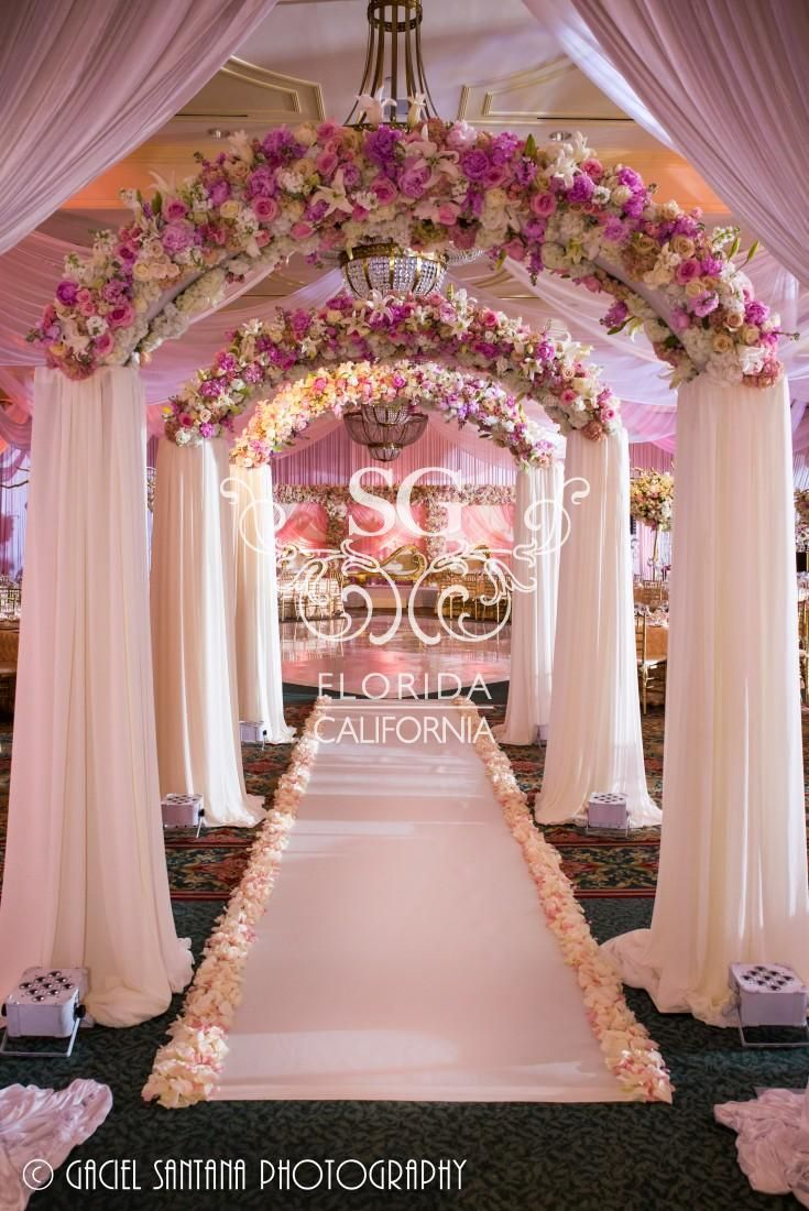 Suhaag Garden, Indian Wedding Decorators, Arabic Weddings, Pakistani Weddings, Fresh Flowers, Flower Wall, Blush Pink Flowers, Ivory Flowers, Rose Gold, Fabric Ceiling Treatment, Pipe and Drape, Fabric Wall Treatments, Vinyl Dance Floor, Reception Table Centerpieces