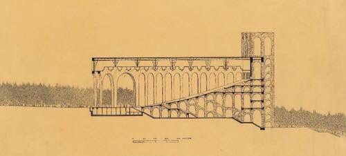 """""""Design for the Festspielhaus 'Schauburg', Bad Berka, Hans Poelzig, 1932"""""""