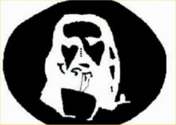 stare at the 3 black dots in the middle for 30 secs, then look at a blank white space (like a wall or blank part of comp screen) and what do you see?