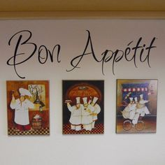 Bon Appetit  Vinyl Lettering by ACJInspirations on Etsy, $10.00  Someday I'll redo my kitchen, italian cooks theme