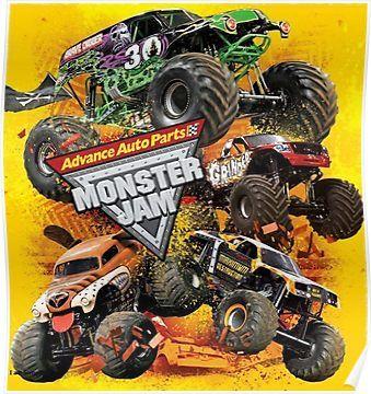 jam monster jam monster poster autos