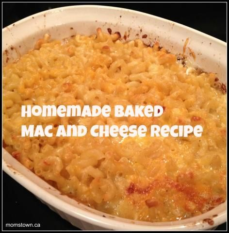 Homemade Baked Mac and Cheese Recipe- simple meal the kids will love! The ultimate comfort food! #recipe