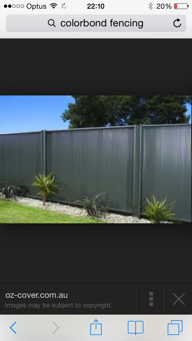 Grey colourbond for joint neighbouring fence