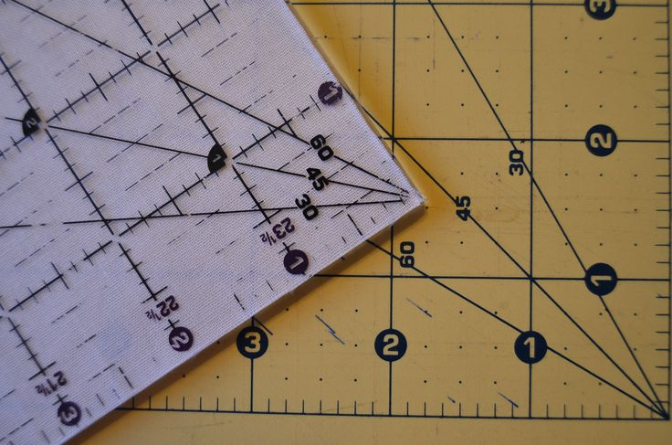 Wonderful tutorial of using your quilt ruler for cutting shapes..A must keep!