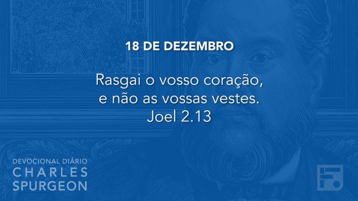 18 de dezembro  - Devocional Diário CHARLES SPURGEON #352