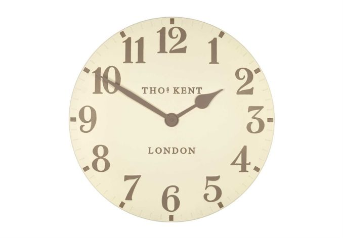 Is it time to get up yet? No need to put on glasses to see this one!  Arabic Cream Clock - Clocks - Living Room Storage   Bookcases   Furniture Village