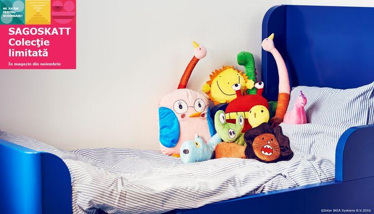 Noile jucării realizate de micii artiști din întreaga lume și-au făcut loc pe rafturile noastre! Colecția limitată SAGOSKATT te așteaptă deja cuminte în magazinul nostru.  Pentru fiecare jucărie sau carte cumpărată din magazinul nostru în perioada 20.11 - 24.12.2016, IKEA Foundation donează 1 euro pentru dreptul copiilor la joacă și dezvoltare.