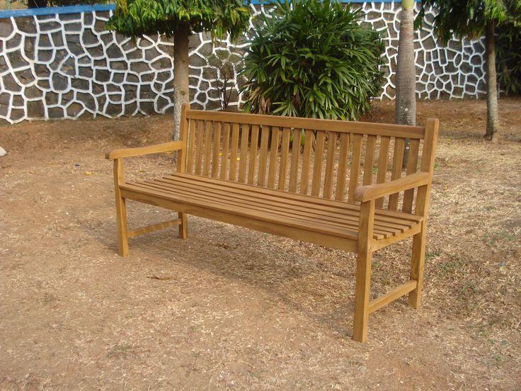 Banc de jardin en teck KALAWEA 180 cm #banc #teck #purteck #premium #qualité #quality #confortetloisirs