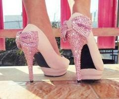 pink sparkly shoes