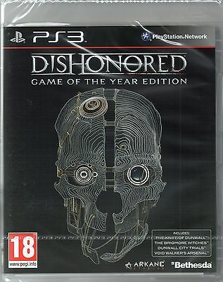 DISHONORED: GOTY Edition GAME PS3 (dishonoured) ~ NEW / GENUINE