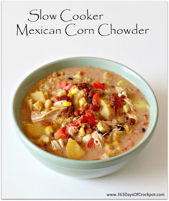 slow cooker mexican corn chowder
