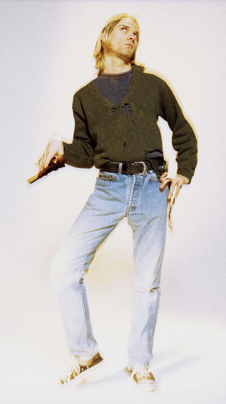 Kurt Cobain #Nirvana 1994-02-14 (Fashion Grunge Kurt Cobain)