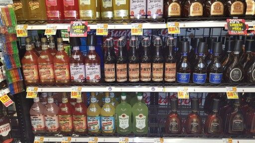6 facings of Dirty Tequila at Smith's Grocery store on Flamingo in Las Vegas