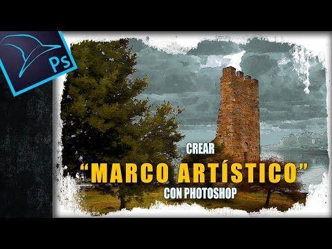 Crear marco artístico fácilmente con Photoshop (4 métodos) - YouTube