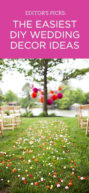 Editor's Picks: Our favorite easy-to-do DIY wedding decor ideas!